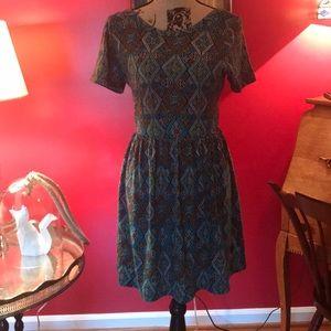 Alya Diamond Patten Dress